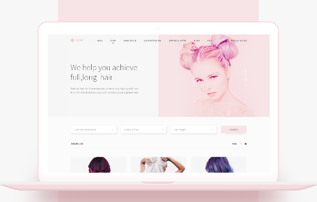 Remi: webshop for beauty industry. Case study